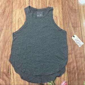 Melrose and Market Gray Tank with high low hem